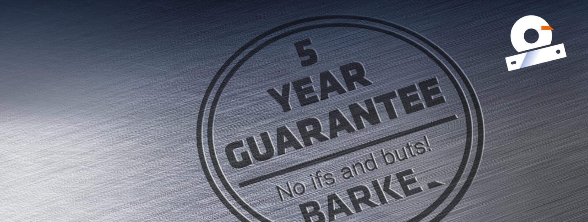 5 year guarantee en